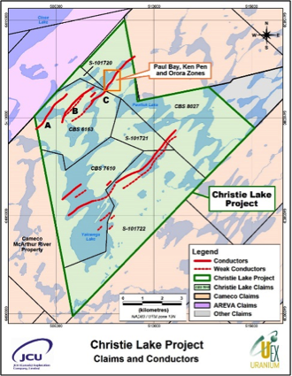 Christie Lake Geology map